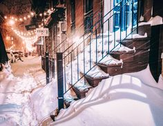 "New York City Blizzard - East Village, 9th Street.  ""A snowy scene from Snowstorm Jonas 2016 in New York City, one of the 2nd biggest blizzards to impact NYC"", by Vivienne Gucwa."