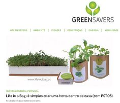 Life in a bag at Portal Green Savers  06-09-13 http://greensavers.sapo.pt/2013/09/06/life-in-a-bag-e-simples-criar-uma-horta-dentro-de-casa-com-fotos/