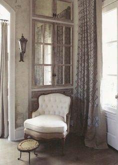 mirror windows & french doors