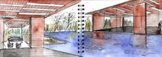 Steven Holl Daeyang Gallery and House Watercolours | cate st.hill