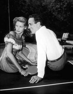 Lauren Bacall + Humphrey Bogart  awesome couple!!