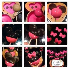 Minnie Mouse cake pop tutorial from Cake Poppin