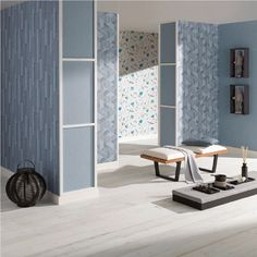 Erismann Levante Rectangles Textured Embossed Vinyl Wallpaper 5766-08
