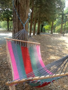 this hammock is pretty fab  Pura Vida Hammock- Red, Seafoam, Pink and White- Embroidered. $85.00, via Etsy.