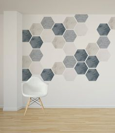 Detachable stone effect honeycomb sticker by Nicematches - REzepteInfinity Creative Wall Painting, Wall Painting Decor, Creative Walls, Wall Decor, Bedroom Wall, Bedroom Decor, Wall Design, House Design, Geometric Wall