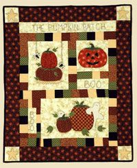 Pumpkin Patch Wallhanging by Quilter's Clutter at KayeWood.com. http://www.kayewood.com/Pumpkin-Patch-Wallhanging-Pattern-by-Quilters-Clutter-QC-PUPAT.htm $10.00