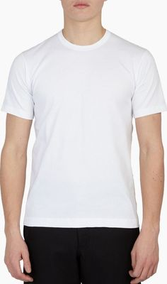 Comme Des Garcons Shirt White Cotton Logo T-Shirt The Comme des Garcons Shirt x Sunspel Cotton Logo T-Shirt for SS16, seen here in white. - - - Comme des Garcons SHIRT put their signature touch on an everyday essential, subtly printing their logo on  http://www.comparestoreprices.co.uk/january-2017-6/comme-des-garcons-shirt-white-cotton-logo-t-shirt.asp