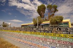 Wall of Licence Plates, Kalgoorlie, Western Australia