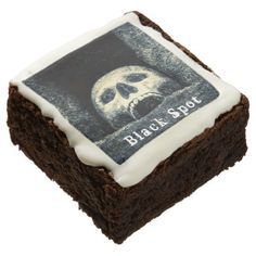 Halloween Skull Black Spot Brownie - halloween decor diy cyo personalize unique party