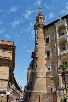 palazzo ducale, urbino, marche, Italia - Immagine Stock: 32244317