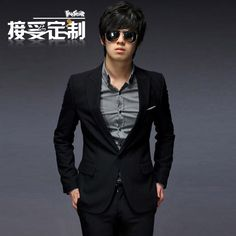 The Korean suit business career suits  suit trend Men Slim AS61