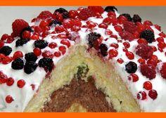 Ovocná piškótová Tvarohová torta