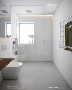 Great DIY renovations, and makeover tips including organization and storage solutions for large and small master bathroom in your house. Modern Master Bathroom, Minimalist Bathroom, Modern Bathroom Design, Bathroom Interior Design, Small Bathroom, Dream Bathrooms, Beautiful Bathrooms, Diy Bathroom Decor, Bathroom Layout