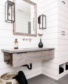 Cool 125 Best Farmhouse Bathroom Vanity Remodel Ideas https://roomadness.com/2018/01/14/50-best-farmhouse-bathroom-vanity-remodel-ideas/ Bath Ideas