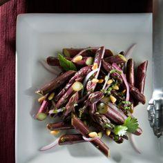 Raw Purple Asparagus Salad | Week 5/18 - purple asparagus, onion