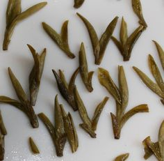 Dragonwell tea or Long Jing - This tea is truly delicious with chestnut and cashew nut nuances with a sweet fresh meadow undertone. This tea is one of the original tribute teas and is drunk by the President of China and only occurs on one mountain in China.