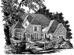 Country House Plan with 4035 Square Feet and 4 Bedrooms from Dream Home Source | House Plan Code DHSW56010