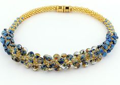 Kumihimo necklace by Rebecca Combs.