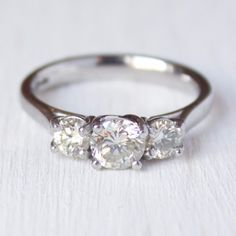3 Stone Diamond Engagement Ring- Chelsea – Victor Barbone