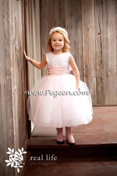 Flower girl with pink cowboy boots! Flower Girl Dress Couture Style 402