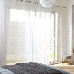 1000 images about habillage des fen tres on pinterest custom roman shades - Voilage organza blanc ...