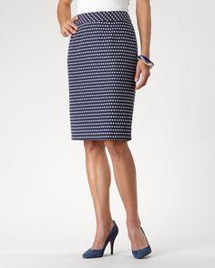 Spot on pencil skirt - [K16938]