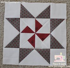 "Piece N Quilt: Star Quilt {Martha Washington's Star}-Sew the three sections together to create an unfinished 12 1/2""x 12 1/2"" Martha Washington's Star."
