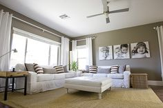 Wrap around canvases in family room?