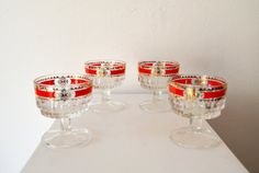 1950's Mad Men Style Set of 4 Vintage by ZenVintageCollection