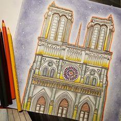 Colorindo Notre Dame ⛪️✨ #segredosdeparis  via ✨ @padgram ✨(http://dl.padgram.com)