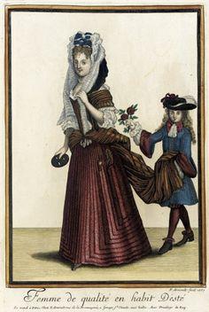 Recueil des modes de la cour de France, 'Femme de Qualité en Habit d'Esté' 1687 | LACMA Collections