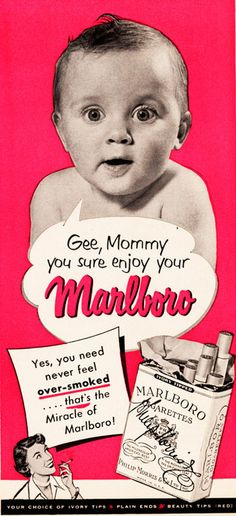weirdvintage:  Marlboro ad, 1951