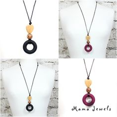 SIMPLY BEAUTIFUL & PRACTICAL Milo silicone teething necklace available in Liquorice and Malbec. The perfect, understated teething pendant for mummies with tugging chewing littles! BUY HERE http://mamajewels.co.uk/?s=milo&post_type=product&utm_content=buffer5bbe1&utm_medium=social&utm_source=pinterest.com&utm_campaign=buffer #teethingpendant #teethingnecklace #scandistyle