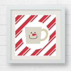 Cross Stitch Pattern Xmas Coffe Mugs Cross Stitch Embroidery Christmas Decor Christmas wall art Xmas cross stitch chrismtas diy by Crossstitchfactory on Etsy