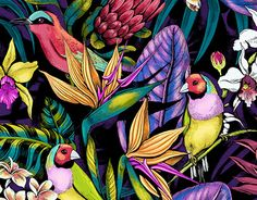 """Check out new work on my @Behance portfolio: """"Stand Out - tropical floral pattern"""" http://be.net/gallery/41547625/Stand-Out-tropical-floral-pattern"""