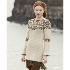 - Icelandic Merla Women Wool Dress Brown - Tailor Made - Nordic Store Icelandic Wool Sweaters - 1 Icelandic Sweaters, Wool Sweaters, Knitting Sweaters, Knitting Books, Knitting Stitches, Wool Dress, Knit Dress, Knitting Designs, Knitting Patterns