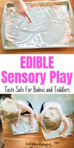 Yogurt sensory play is a fun activity for toddlers that is so quick and easy to set up. Toddlers can practice pre-writing skills and have messy sensory play in this easy no-prep activity that's taste- Edible Sensory Play, Baby Sensory Play, Sensory Activities Toddlers, Infant Activities, Baby Activites, Sensory Bins, Sensory Play For Babies, Indoor Toddler Activities, Autism Activities