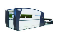 Our Machine of the Month! @LVDStrippit Electra FL 3015 fiber laser cutting machine is now offered with an 8-kW power source. The Electra 8-kW can maintain 2G acceleration speed while cutting, producing quality cuts in simple to complex configurations.