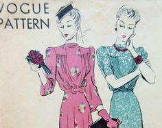 Vintage Advance 4743 Schnittmuster Peplum Kleid von sewbettyanddot