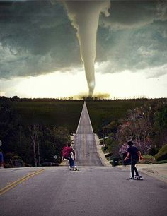 Write why there going to the tornado.