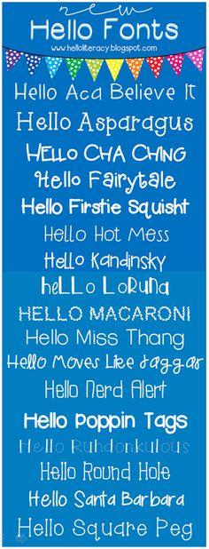 Hello Literacy debuts 17 new Hello Fonts.