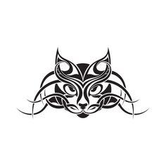 tatouages temporaires cattoo design the cattoo tribal cat face les tatouages design cattoo sont