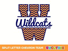 split letter chevron team name svg dxf vector files for cricut silhouette