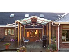 Installing a canopy on the home page at the moment is no longer a strange thing. Many houses, both classic, . Minimalist Home, Minimalist Design, Canopy Design, Protecting Your Home, Classic House, Modern House Design, Terrace, Gazebo, Architecture Design
