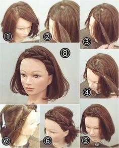 haar step by step haar step by step Medium Hair Styles, Curly Hair Styles, Hair Upstyles, Hair Arrange, Pinterest Hair, Messy Hairstyles, Hair Dos, Hair Hacks, Hair Lengths