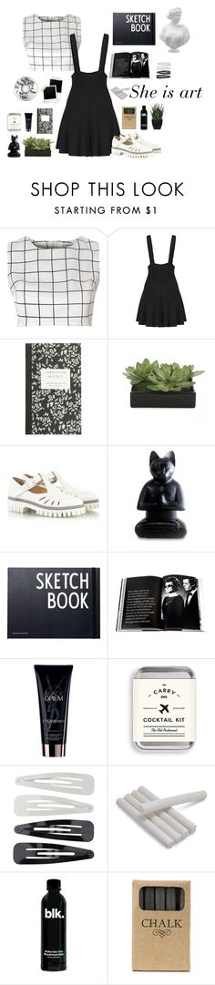 """""""She is art"""" by jovanax97 ❤ liked on Polyvore featuring Glamorous, J.Crew, Lux-Art Silks, Alberto Guardiani, NOVICA, Design Letters, Assouline Publishing, Yves Saint Laurent, Forever 21 and Creative Co-op"""