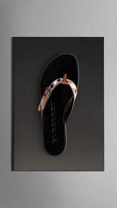 Haymarket Check Flip Flops | Burberry  Mmmm..I want.