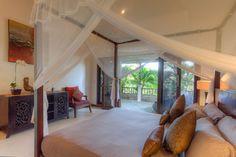 Beautiful canopied bed at Villa Kipas in Seminyak Bali