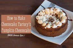 Learn to make Cheesecake Factory's delicious pumpkin cheesecake.
