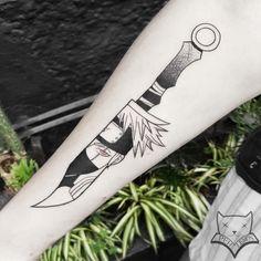 geometric line tattoo Blade Tattoo, Knife Tattoo, Line Tattoos, Body Art Tattoos, Cool Tattoos, Tatoos, Kakashi Tattoo, Octupus Tattoo, Naruto Eyes